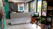Tropical Palms Reception and office.