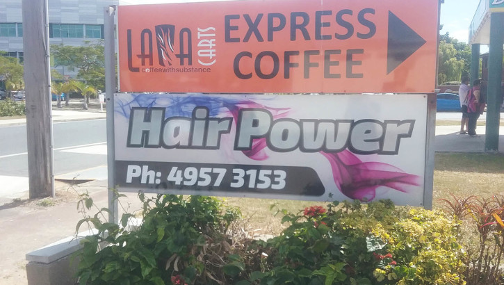 Hair Power street sign