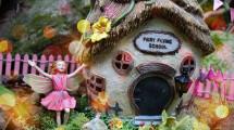 Garden Sparkle - Solar Fairy Houses - Fairy Flying SChool